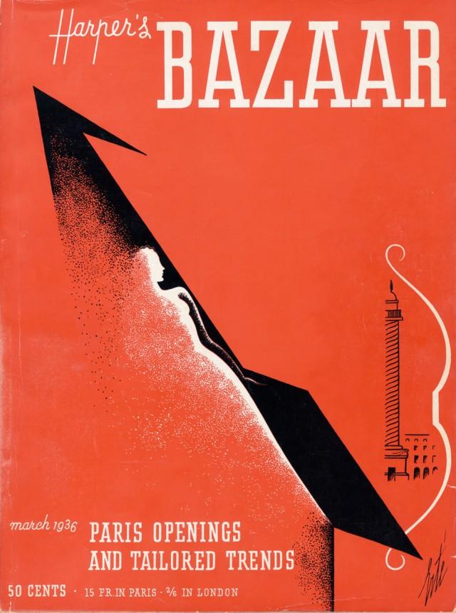 "Cover di Erté, ""Harper's Bazaar"", marzo 1936"