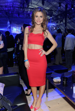 A red hot Maria Menounos hosted at Super Saturday Night Party