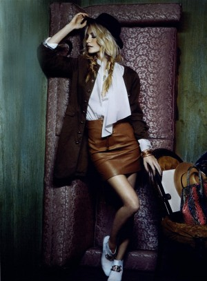 Poppy Delevingne Goes Bohemian in Glamour Italia by Francesco Carrozzini