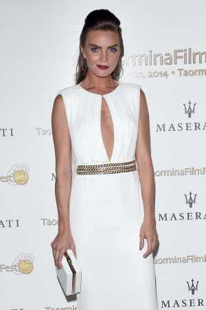 Kim Feenstra wears capsule Red Carpet at 2014 Taormina Film Fest