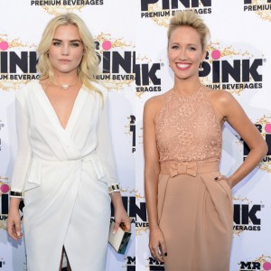 Maddie Hasson and Anna Camp at 2014 Young Hollywood Awards