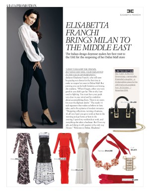 Grazia Middle East interviews Elisabetta Franchi